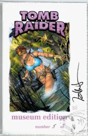 Tomb Raider #3 Sketch Premium Museum Edition Signed Talent Caldwell COA Jay Company